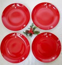 """Set / 4 Studio Tord Boontje RATHER RED Dinner Plates 11"""" Reindeer Target... - $44.99"""