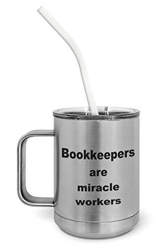 PixiDoodle Bookkeeper Accounting CPA Insulated Coffee Mug Tumbler with Spill-Res - $30.39