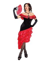 Women's Spanish Dancer Dress & Hair-Clip Halloween Costume Small 2-6 Dreamgirl - $19.79