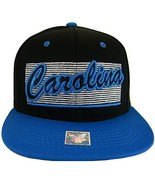 Carolina 2-Tone Adjustable Cotton Snapback Baseball Cap (Black/Blue) - $12.95