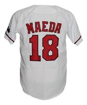 Kenta Maeda #18 Hiroshima Carp Button Down Baseball Jersey White Any Size image 2
