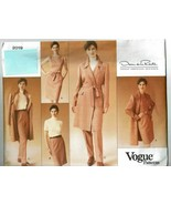 Vogue Sewing Pattern 2019 Coat Dress Pants Oscar de le Renta Size 18 20 22 - $17.99
