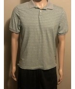 Men's Patagonia Green Gray Teal Black Striped Short Sleeve Polo Shirt Me... - $21.28