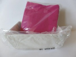 Yves Rocher 3 Woven Wash Cloths and Basket Set Sink Top Bathroom Vanity New - $11.52