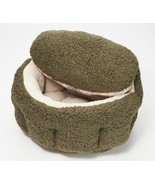 "Burrow Bud 29""  x 31""  Cozy Cuddle Pet Bed  Olive   BM5 - £48.36 GBP"