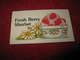 1983 Strawberry Shortcake Housewarming Surprise Board Game Part: Recipe Card #5 - $1.00