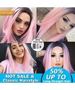 Long Straight Synthetic Hair Wigs for Women Andromeda Women's Cheap Ombr... - $17.40