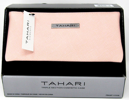 Tahari Triple Section Cosmetic Case, Pink - $22.76