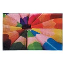 Porch Welcome Mat, Color Pencils House Modern Decorative Indoor Floor Mat - $23.19