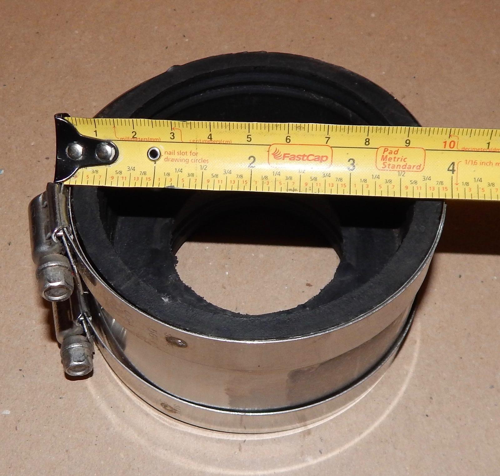 "Rubber Reducer Coupling Boca 3""ci To 2""ci B602 USA Astm C 564 Sbcci 135I"