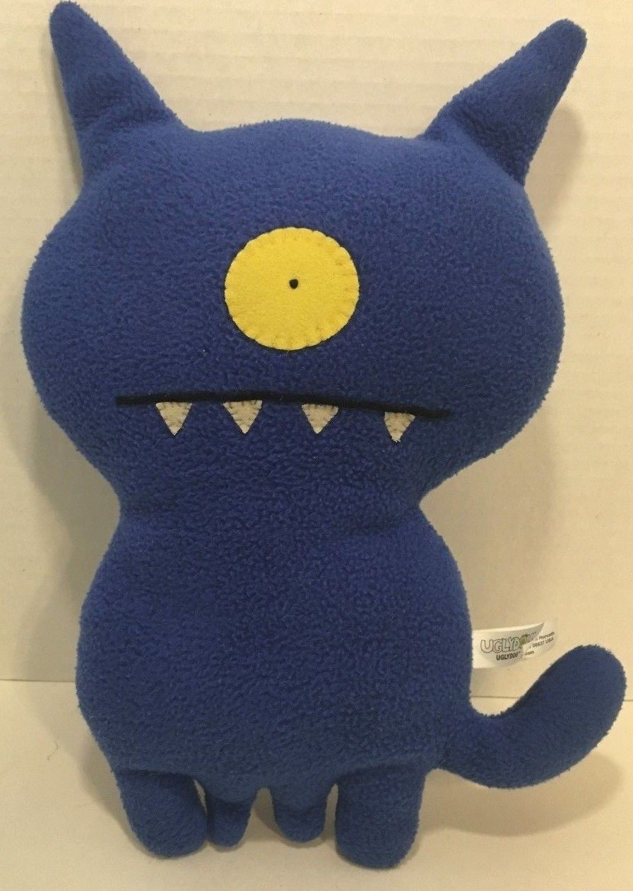 "Primary image for UglyDoll UglyDog blue plush monster doll ugly doll 12-13"" gently used"
