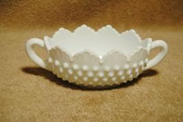 Vintage Fenton Milk Glass Hobnail Candy or  Nut Dish Bowl - $9.00