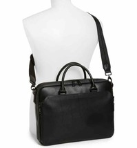 Vince Camuto Turin Leather Briefcase Travel Bag - Black (Retail $348) - $98.01