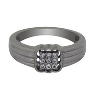 Cubic Zirconia Gemstone 925 Sterling Silver Jewelry Ring Band Sz 7.5 SHR... - £14.80 GBP