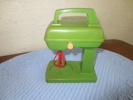 Vintage AVOCADO Plastic Child's Toy MIXER w/WORKING BEATER - Made in Hon... - $14.80