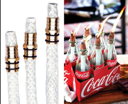 Kentucky Home 3 Pack Table Bottle Torch Kit Includes 3 Wicks Brass Mount... - €9,68 EUR