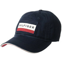 Tommy Hilfiger Men's Branding Logo Patch Hat Strap Back Baseball Cap 6941828 image 2