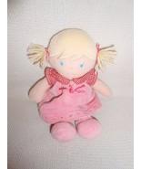 CARTER'S Carters MY FIRST DOLL Blonde HAIR PINK ROSEBUDS DRESS HTF 2005 - $22.49