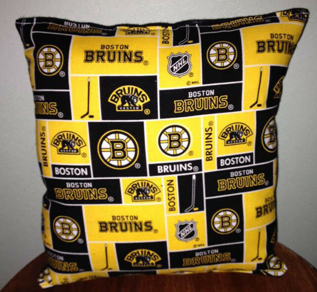 Primary image for Bruins Pillow Boston Bruins Pillow NHL Handmade in USA