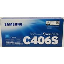 Samsung C406S Cyan Printer Cartridge CLT-C406S Toner Express C41x C46x New - $34.65