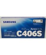 Samsung C406S Cyan Printer Cartridge CLT-C406S Toner Express C41x C46x New - £26.34 GBP