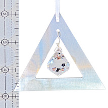 Aluminum and Crystal Triangle Ornament - Bell image 2