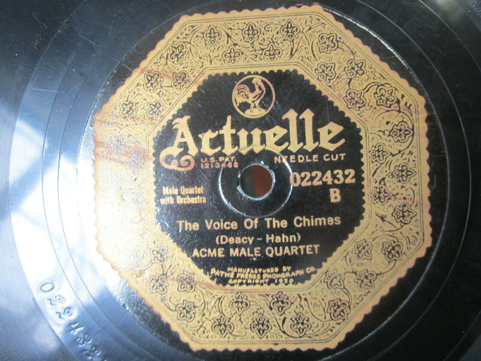 "Primary image for 10"" 78 rpm RECORD ARTUELLE 22432 LEWIS JAMES EXCELSIOR /THE VOICE OF THE CHIMES"