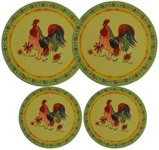 Set 4 Round Stove Top Burner Covers - Rooster Design. #82-574 New - $21.00