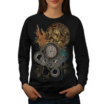Clock Cool Print Fashion Jumper Illusion Women Sweatshirt - $18.99