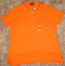 Polo Ralph Lauren Womens The Skinny Fit Mesh Polo Shirt SAILING ORANGE XL - $54.95