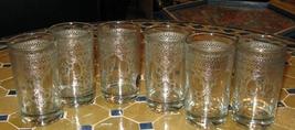 Silver Moroccan tea glasses-Moroccan tea glasses silver-Silver Tea glass... - $48.00