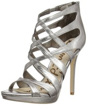 SAM EDELMAN ERIN STRAPPED PUMPS SILVER US 10M - $39.60