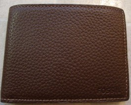 New Fossil Camden Int Bifold Men Leather Wallet Brown #SML1288201 - $41.37