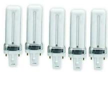 5x lot GE F5BX/827/ECO Biax 5W T4 PL Plug-In compact Fluorescent Light Bulb - $24.74