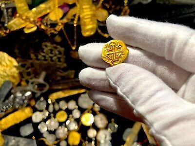 PERU 1 ESCUDO 1736 PENDANT NECKLACE PIRATE GOLD COINS JEWELRY TREASURE DOUBLOON image 5