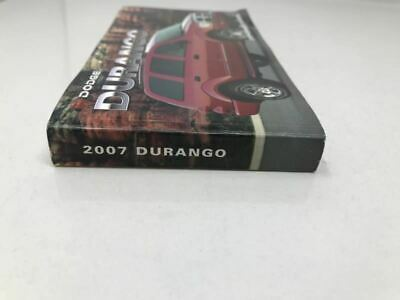 2007 Dodge Durango Owners Manual Case Handbook OEM Z0A115 image 6