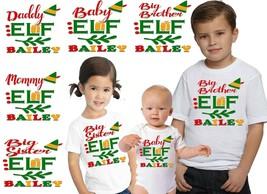 Custom Matching Family Christmas Shirts Personalized T-shirts Customized... - $12.00