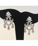 Chandelier Jacket Earrings Avon Silver Tone Crystal Clear Stone Dangle P... - $35.00