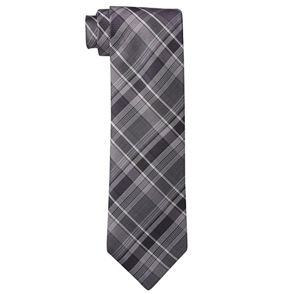 Calvin Klein Purple Multi Schoolboy Plaid Necktie. MSRP $65