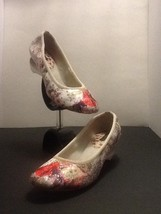 Clean EUC Louis Vuitton Floral Multicolor Heels Stretchy Band 39 Sz US 8 - $223.09