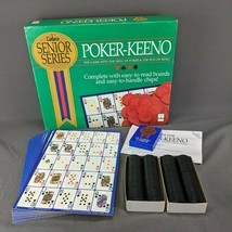 Cadaco 1989 Senior Series Poker-Keeno Oversized Chips Cards Play Boards ... - $43.49