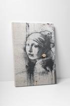 Banksy Girl With Pierced Eardrum (Earring) Gallery Wrapped Canvas Print. BONUS! - $44.50+