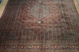 10 x 13 Brick Red Black New Indian Bijar Red Jaipur Wool Handmade Rug image 12
