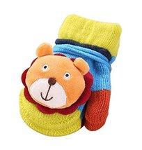 Baby Boy Girl Winter Warm String Glove Mittens [Bear, 1-2 Y] - £8.47 GBP