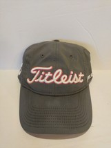 Titleist  FJ Foot Joy Golf Hat Cap Grey with White and Pink Stitching - $19.75