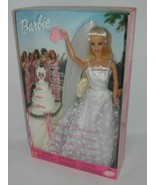 Barbie Wedding Bouquet Doll She Can Toss The Bouquet 2001 New #52649 MIB - $57.44