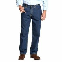 Kirkland Signature Mens Jeans Relaxed Fit 100% Cotton Dark Blue Heavy-Du... - $26.99