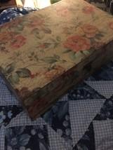 Flowered Keepsake Box 12 X 8 X 4 (me) - $44.55