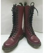Doc Dr Martens Boots 1914 Smooth Leather Oxblood Red 14 Eye  Calf High S... - $189.80