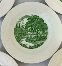 Pastoral Bread and Butter Plate Homer Laughlin White/Green Vintage C58N6 USA - $20.00